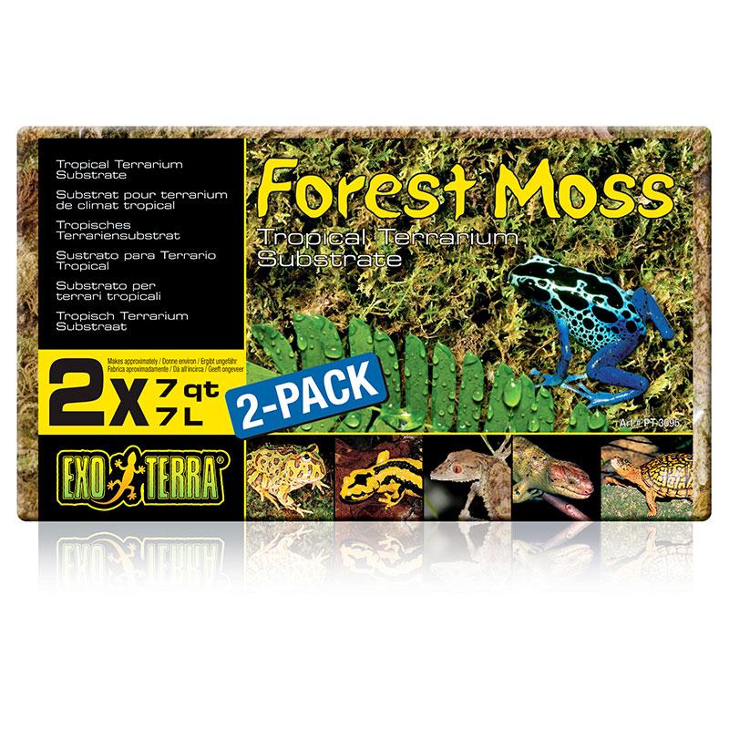 Exo Terra Forest Plume Moss, 7 qt. (2 x pack)